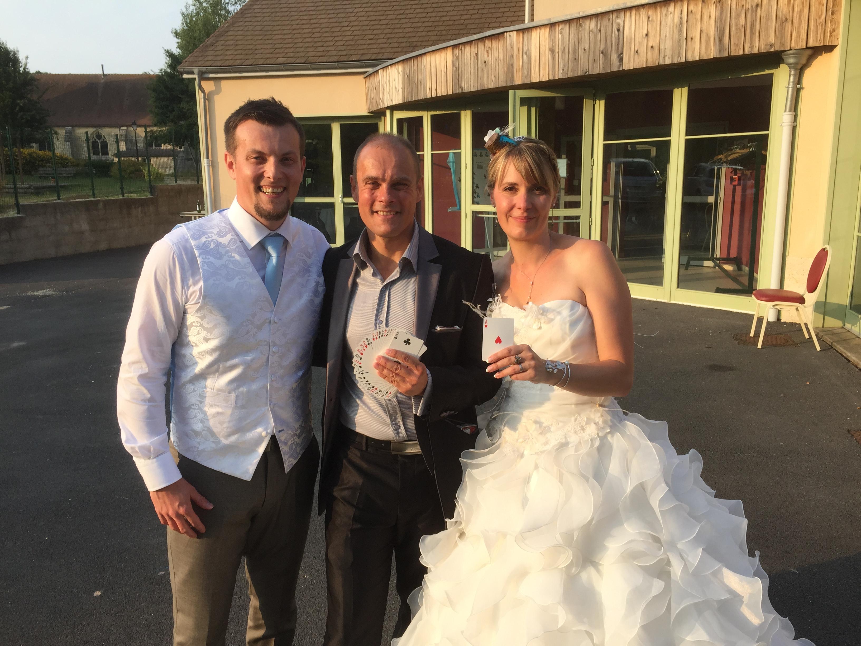 La magie avec les mariés