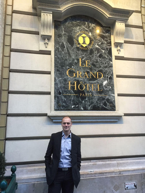 Intervention au grand hôtel de Paris