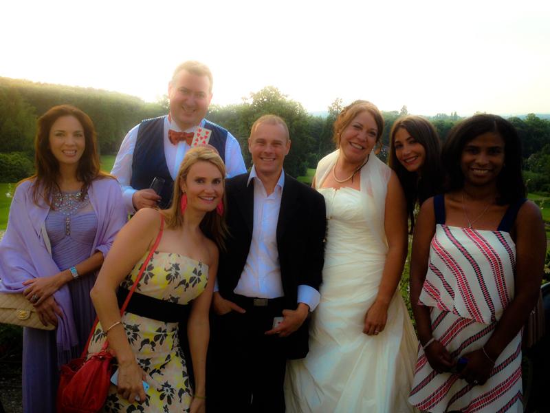 Photo après intervention de magie dans un mariage